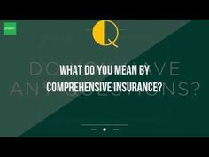 What do you mean by comprehensive insurance? - WATCH VIDEO HERE -> http://bestcar.solutions/what-do-you-mean-by-comprehensive-insurance     Full auto insurance against myths of third-party insurance covering everything that does and means? . A comprehensive car insurance explained is confusing. For complete car auto insurance, damage caused by incidents other than a higher deductible means that the driver will have to cover more...