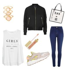 """Untitled #30"" by izzie-phillips on Polyvore featuring MANGO, River Island, Topshop, NIKE, Monsoon, Chanel and AERIN"