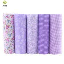 New Purple Floral Patchwork Tela de Algodón Paquetes Trimestre Grasa Tela de Costura Textil Para Las Bolsas de Ropa de Costura 40*50 cm A2-5-2(Hong Kong)