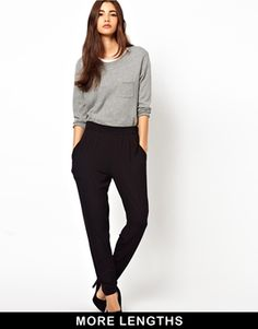 Image 1 of ASOS Peg Trousers In Jersey
