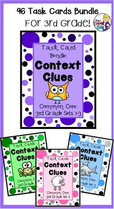 This set of 96 task cards will give your students lots of concentrated context clues practice. perfect for 3rd graders! (TpT Resource)