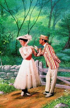 disney movies vintage Mary Poppins Julie Andrews Dick Van Dyke bert vintage movies mary poppins and bert