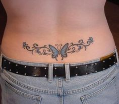 Butterfly+Tattoo+Designs | ... pequeños para mujeres butterfly-lower-back-tattoo – esbelleza.com
