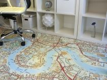 Map flooring, by a company called Murafloor.  Worth investigating.