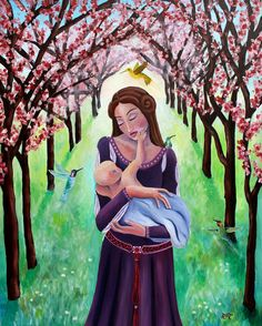 Pregnancy art mother and child art mother by ReneeThompsonDesigns, $25.00