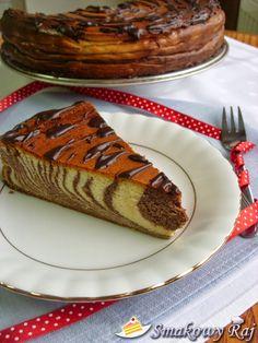 Smakowy Raj - blog kulinarny: Sernik Zebra