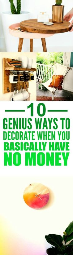 These 10 ways to make your home look cheaper on a budget are THE BEST! I'm so happy I found this AWESOME post! Now I have some good ideas on how to decorate my place. I'm SO pinning for later!