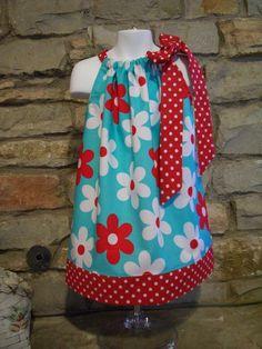 Lil Plane Jane Pillowcase  Dress size 12m by DenimPitstopFashions, $20.00