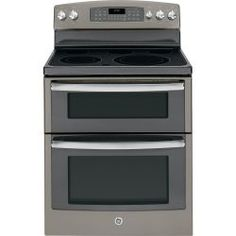 GE 6.6 cu. ft. Double Oven Electric Range with Self-Cleaning Ovens in Slate