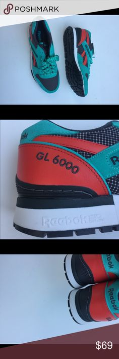 9410b3442285 NWT Reebok GL 6000 Men Teal Shoes Size 10 NWT GL 6000 Reebok men's sneakers.
