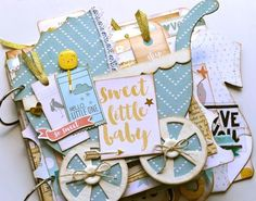 Sweet Baby Boy....I love the little carriage and the wheels...and the girl kit is cute as can be.