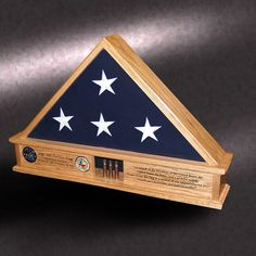 5x9 Red Oak Lite Display Base flag case