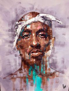 Tupac Shakur, acrylics, x Arte Do Hip Hop, Hip Hop Art, Tupac Pictures, Art Pictures, Dojo, 2pac Wallpaper, Tupac Art, Arte Dope, Hiphop