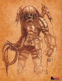 The concept art piece with the whip, which inspired its inclusion in the film.
