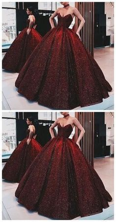 Ball Gown Wine Red Sequin Floor-Length Burgundy Quinceanera Dress Sweet 16 Dresses for Girls, Shop plus-sized prom dresses for curvy figures and plus-size party dresses. Ball gowns for prom in plus sizes and short plus-sized prom dresses for Red Wedding Gowns, Wedding Evening Gown, Evening Dresses, Red Gowns, Modest Wedding, Dress Wedding, Afternoon Dresses, Wedding Unique, Casual Wedding