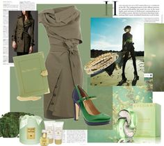"""green"" by vagrfd ❤ liked on Polyvore"