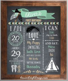 This Boys 1st Birthday Chalkboard sign is the perfect addition to your little Wild one's first