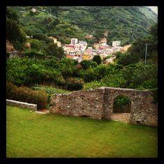 Ancient defence walls surrounding wedding venue, Buranco Vineyard, Monterosso, Cinque Terre. By Cinque Terre Wedding, www.cinqueterrewedding.com