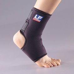 LP Childrens Ankle Support with Strap (Black; One Size Fits Most) by LP Supports. $18.95. Velcro strapping open heel design - comfort & easy application in any street or athletic footwear. Color Black; One Size Fits All-Age range 6-10; Variety of adult sizes available in separate listing. Provides support & compression to weak or injured ankle joint; helps reduce swelling & stiffness. High-spliced heel design provides extra support & protection of Achilles tendon; helps...