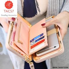 Purse wallet female famous brand c . Purse wallet female famous brand card holder mobile phone bag gifts for women money bag clutch 505 Leather Clutch, Leather Purses, Pu Leather, Leather Gifts, Handmade Leather, Leather Case, Leather Fashion, Patent Leather, Card Wallet