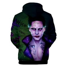 Unisex Hooded Suicide Squad Harley Quinn Joke Printed Realistic Pullover Athletic Hip-hop Sweatshirt with Big Pocket Halloween Cosplay, Cosplay Costumes, Joker Costume, Daddys Lil Monster, Funny Pigs, Photo Pillows, Sports Trousers, Harley Quinn Cosplay, Cool Hoodies