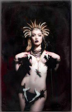 """Saatchi Art Artist Izaskun Gonzalez; Photography, """"The Voodoo Priestess II"""" #art"""