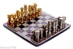 MINIATURE DOLLHOUSE 1:12 SCALE MAGNETIC CHESS SET - T8667 - NEW