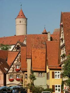 Dinkelsbuhl is a walled town along the Romantic Road Bike Route