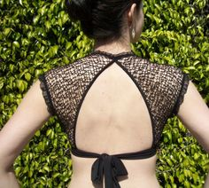 Retro Choli black on black by chovihani on Etsy, $56.00