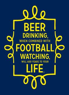 Beer and Football Funny Birthday Card