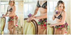 purple flowers, real floral lingerie, purple flowers, bridal boudoir, Misty Saves the Day, Yours Truly Portraiture