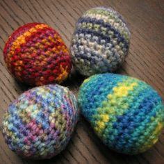 How to Crochet Easter Eggs - a free pattern. Follow the link to read about a fun challenge.