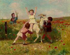 New Tricks :: Victor Gabriel Gilbert - Children's portrait in art and painting