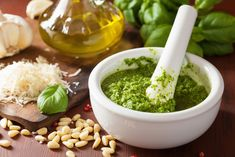 The best basil pesto recipe ever! Easy to make pesto using garden fresh basil, parmesan and garlic! So yummy! Use on pasta, spaghetti squash, bread, pizza and more! Basil Pesto Pasta, Basil Pesto Recipes, Tomato Basil, Sauce Recipes, Pasta Recipes, Cooking Recipes, Chicken Recipes, Receta Salsa Pesto, Best Pesto Recipe