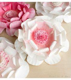 Flores feitas com prato de papel passo a passo