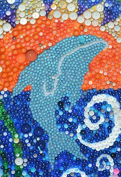 Finally a use for all those bottle caps! School Wide Bottle Cap Mural Project for kids