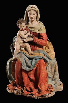 Antonio Begarelli - Madonna del Cardellino (goldfinch) terracotta policroma - Verica (Modena), chiesa parrocchiale   #TuscanyAgriturismoGiratola