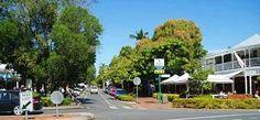Macrossan Street, the main street through Port Douglas, Queensland