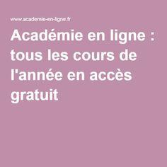 Académie en ligne : tous les cours de l'année en accès gratuit