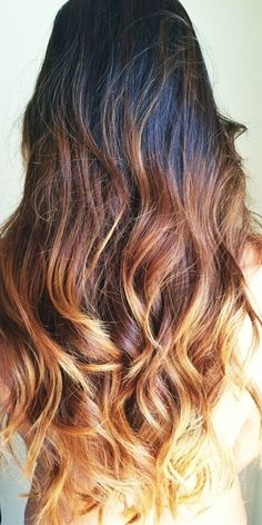 Dark brown ombre hair. Really like this you don