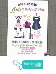 Set of 10 Lingerie Shower Invitation with Envelopes
