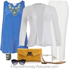 """Color Block Party"" by fiftynotfrumpy on Polyvore"