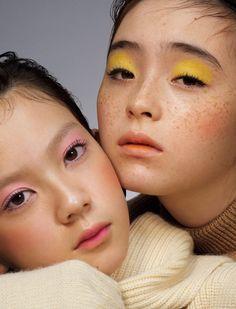 Serena Motola and Sena Nakashima for Ginza Magazine. Makeup Inspo, Makeup Art, Makeup Inspiration, Eye Makeup, Hair Makeup, Runway Makeup, Make Up Color, Makeup Photography, Glamour Photography