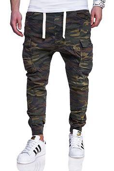 Shoppen Sie MT Styles Cargo Jogg-Jeans Hose RJ-3188 [Khaki, W30] auf Amazon.de:Jeanshosen