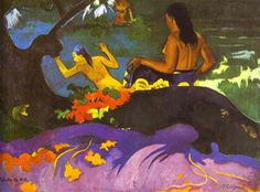 Near the Sea - Gauguin, Paul - Pont-Aven School - Oil on canvas - Nude - TerminArtors