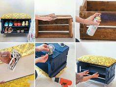 Reutilizar caixa de madeira