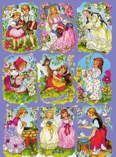 Little girl Vintage die cuts scraps Victorian decoupage Old Paper, Paper Art, Christmas Decals, Vintage Games, Vintage Clip, Retro Toys, Old Postcards, Vintage Pictures, Sticker Paper