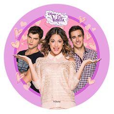 Violetta : Cialda in pasta di zucchero Violetta 4 Modecor D.22cm