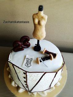 Clothes designer birthday cake