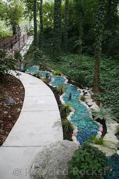 recycled glass landscape | Recycled Rocks! - Glass Landscaping Rocks